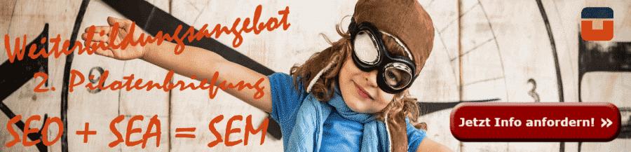 Anzeige Pilot Online-Marketing