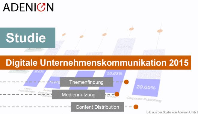 Die Studie Digitale Unternehmenskommunikation 2015