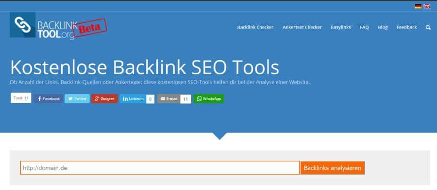Kostenlose Backlink SEO Tools