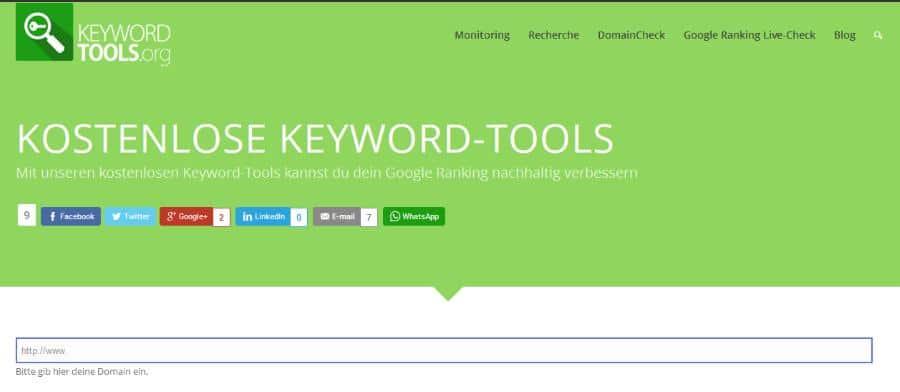 Kostenlose Keyword-Tools