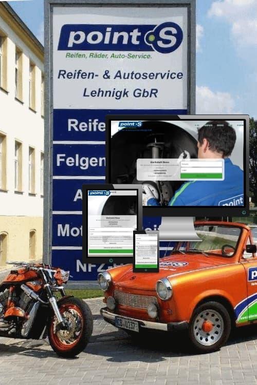 Erfolgreich online sein - pointS Autowerkstatt