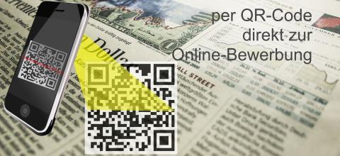 per QR-Code direkt zur Online-Bewerbung